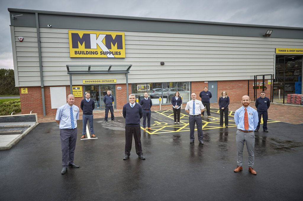 The MKM Building Supplies team at the new premises at The Trade Yard Scunthorpe.