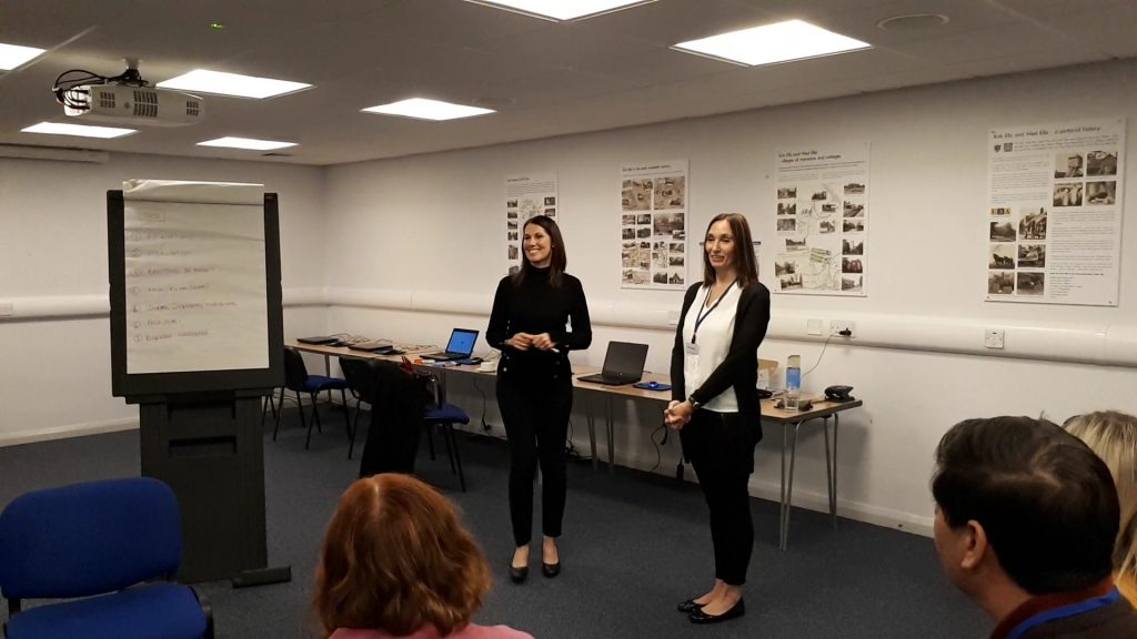 Angela and Debra in action delivering a confidence workshop with Community Job Club members.