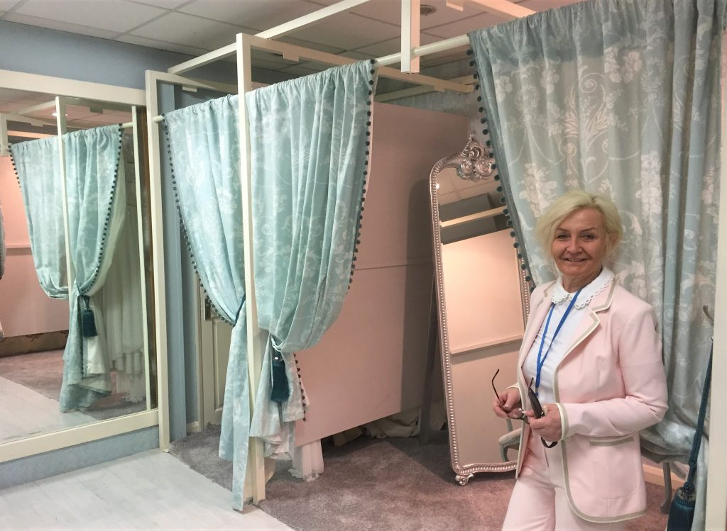 Angie Biggs, owner of A Stitch in Time in Savile Street.