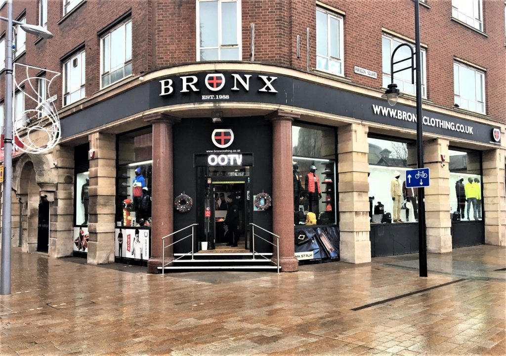 Bronx Clothing, Paragon Square, Hull.