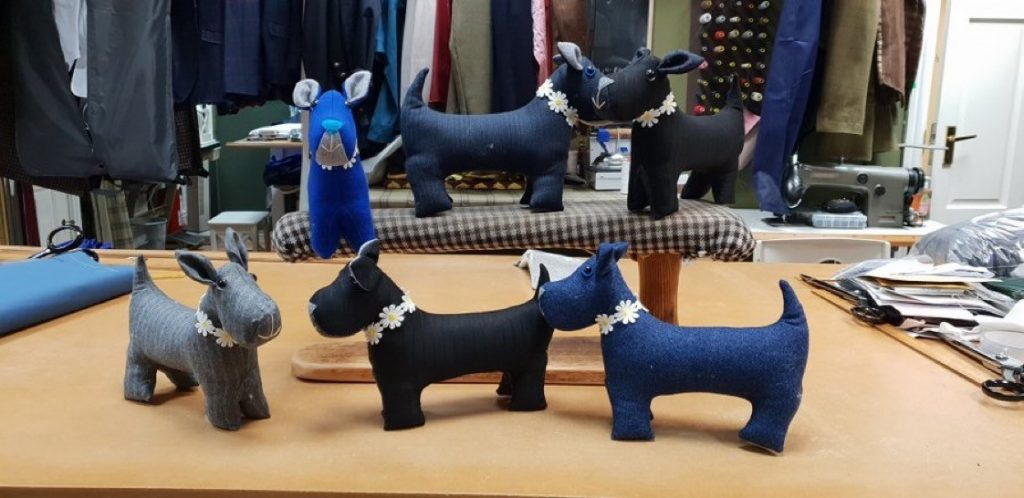 Customers of Cock of the Walk tailors in Hull have been placing festive orders for hand-made dogs.