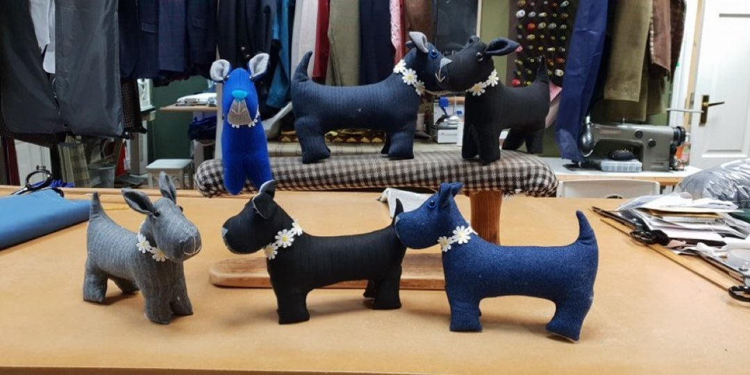 hand-made dogs.