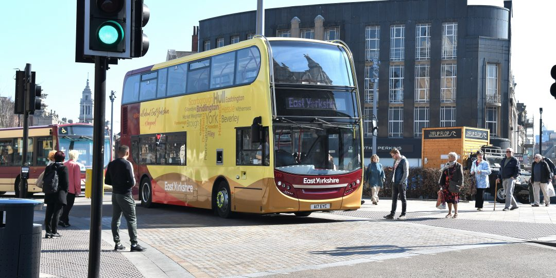 East Yorkshire bus in HUll city centre.