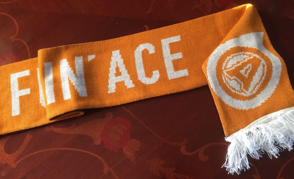 Flipping Ace scarf.