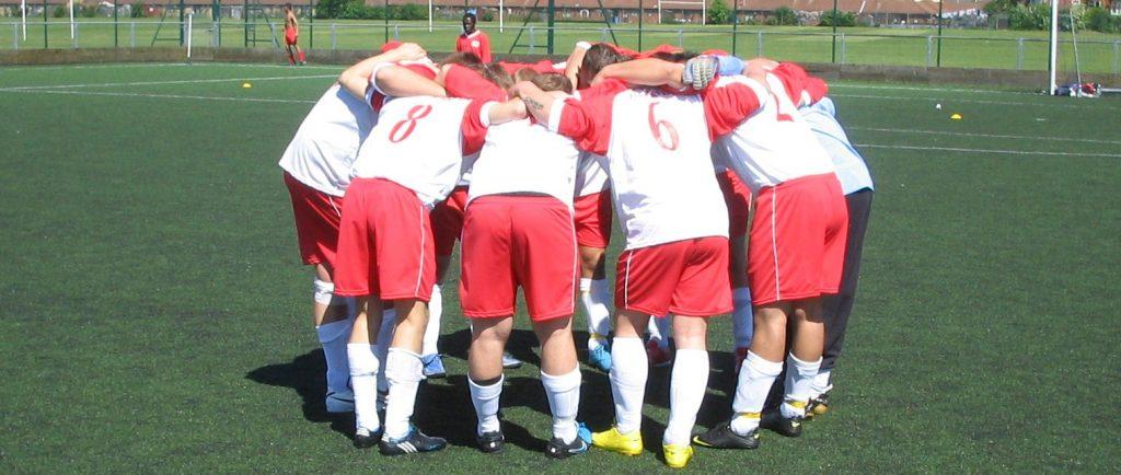 Poland huddle.