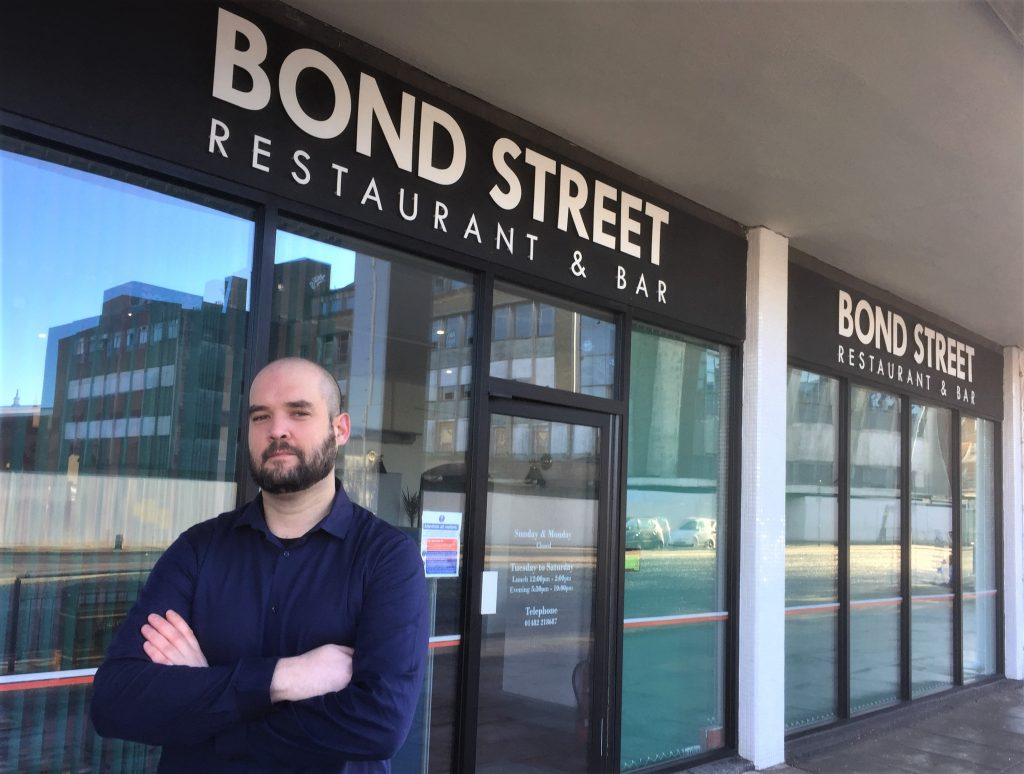 Jason Ioakeim outside Bond Street Restaurant & Bar in Hull.