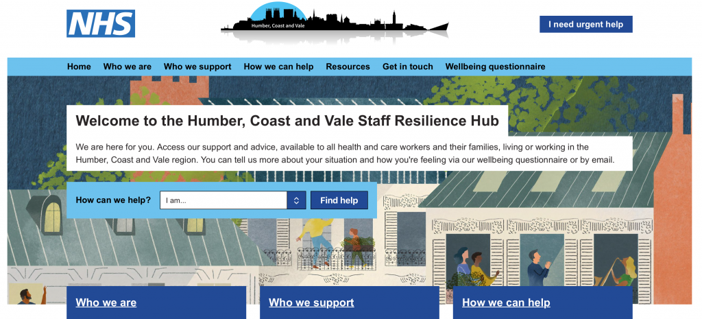 New Resilience Hub for health and care staff and volunteers