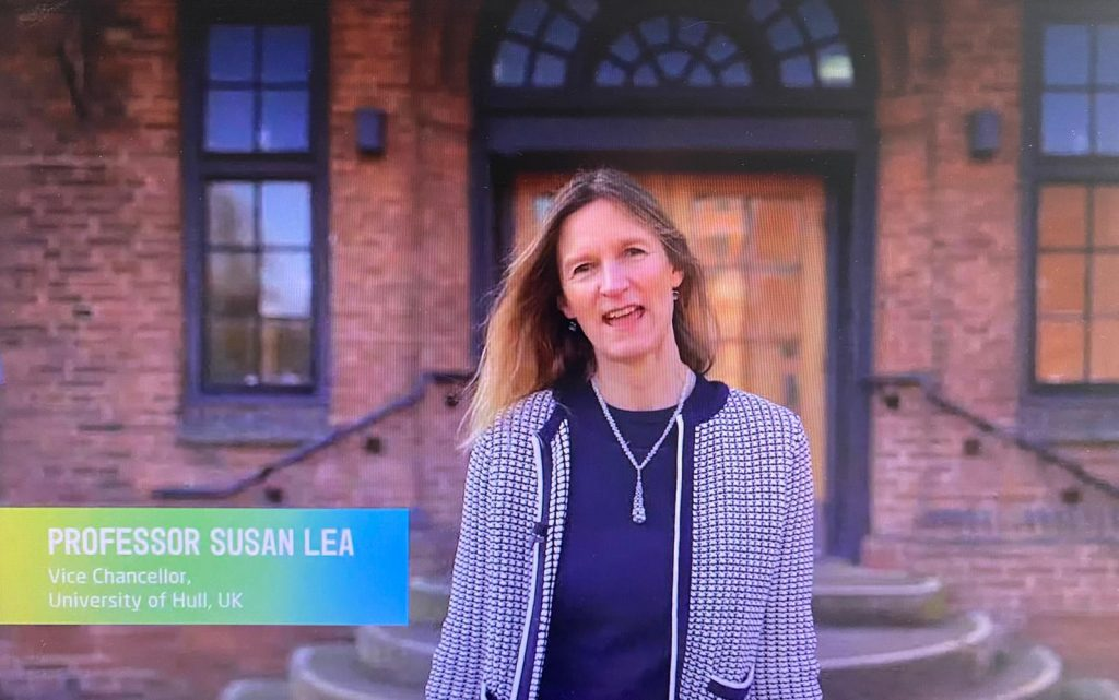 Professor Susan Lea, Vice-Chancellor at the University of Hull.
