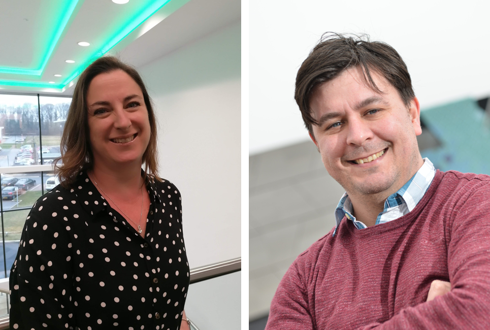 Sarah Clark, Operations Manager at Aura, and Professor Dan Parsons, Director at the University's Energy & Environment Institute.