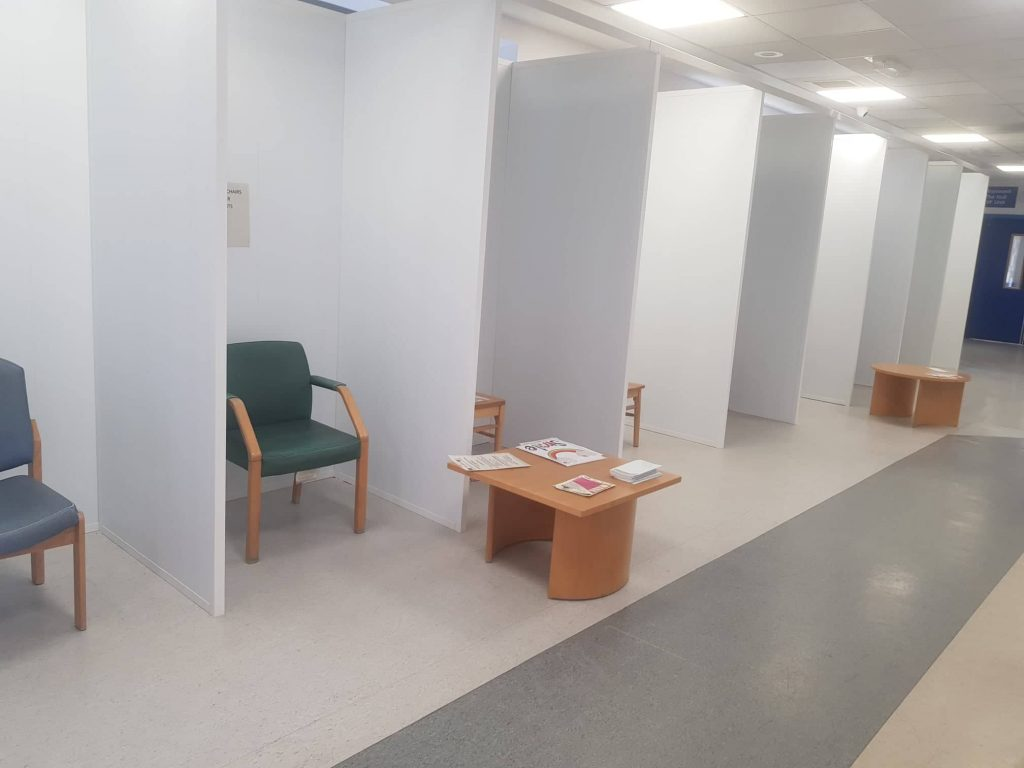 New pods within Hull Women and Children's Hospital.